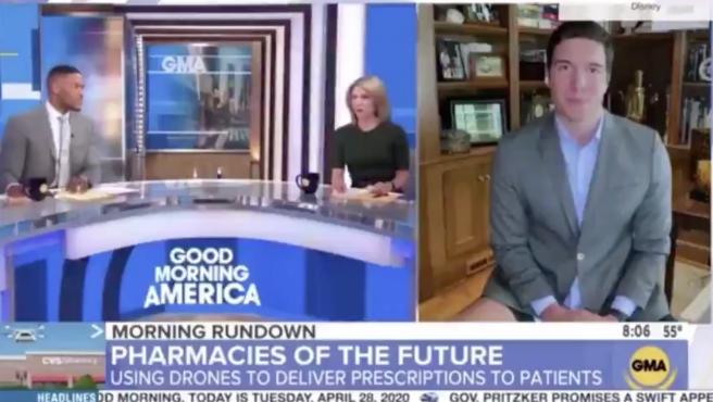 Un periodista interviene sin llevar puestos los pantalones en 'Good morning America'.