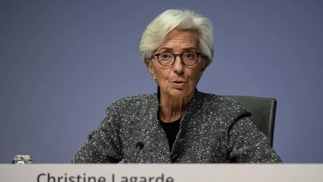 HANDOUT - 12 March 2020, Frankfurt: European Central Bank (ECB) President Christine Lagarde speaks during a press conference following the meeting of the Governing Council of the European Central Bank in Frankfurt. Photo: Dirk Claus/European Central Bank/dpa - ATTENTION: editorial use only and only if the credit mentioned above is referenced in full ONLY FOR USE IN SPAIN HANDOUT - 12 March 2020, Frankfurt: European Central Bank (ECB) President Christine Lagarde speaks during a press conference following the meeting of the Governing Council of the European Central Bank in Frankfurt. Photo: Dirk Claus/European Central Bank/dpa - ATTENTION: editorial use only and only if the credit mentioned above is referenced in full (Foto de ARCHIVO) 12/3/2020 ONLY FOR USE IN SPAIN