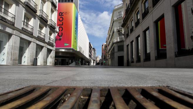 La Calle Preciados en Madrid.
