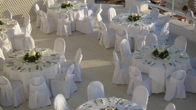 Imagen de archivo de un salón de bodas.