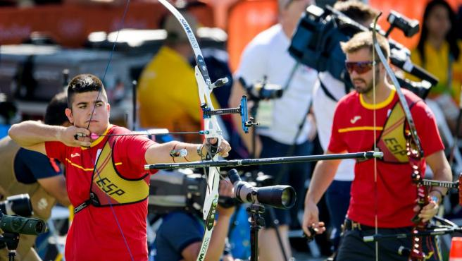 Alvariño, durante la prueba por equipos de los Juegos de Río 2016.