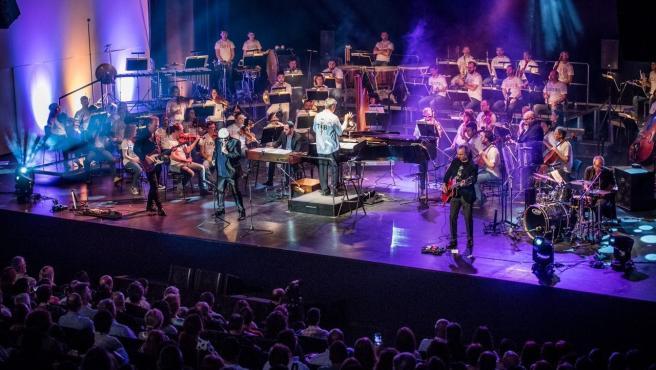 La Orquesta de Extremadura en concierto, en una imagen de archivo.