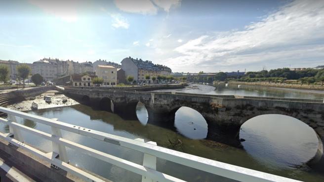 Ponte do Burgo, el puente peatonal que separa Culleredo y Cambre