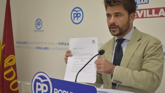 Beltrán Pérez en rueda de prensa en una imagen de archivo