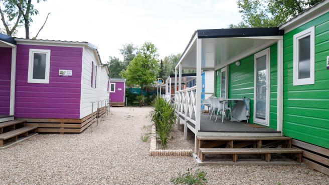 Bungalows en un Camping Internaciona, cerrado por el Covid-19