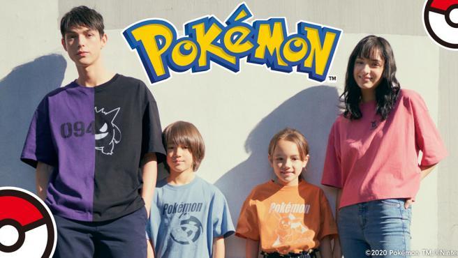 Algunas de las prendas de la nueva línea de ropa de Pokémon.