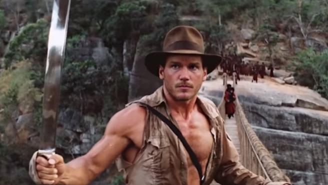 Chris Pratt reacciona a la perfección de su deepfake como Indiana Jones