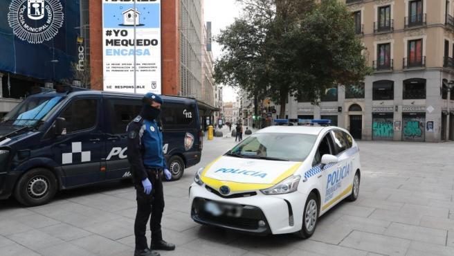 Coche patrulla de la policía municipal de Madrid