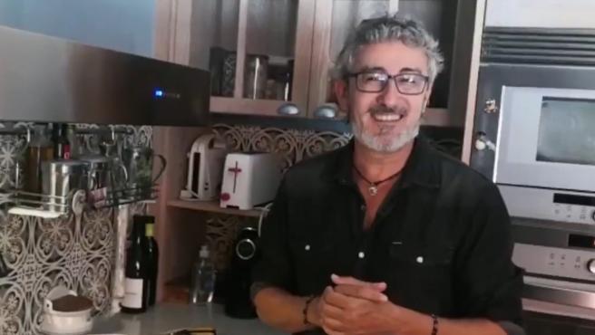 David Fernández, en su vídeo de presentación de 'MasterChef Celebrity'.
