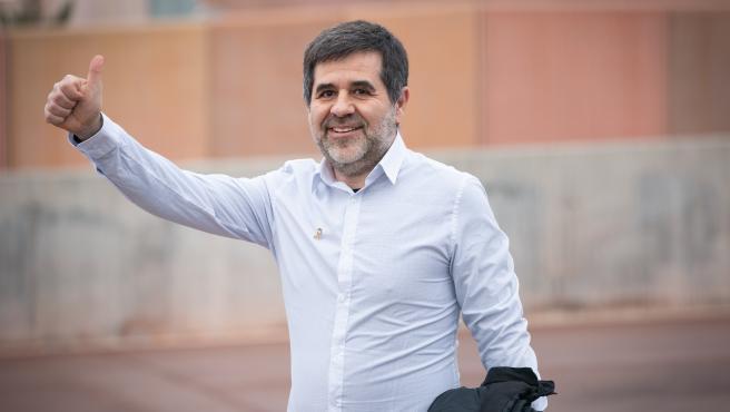 El expresidente de la Asamblea Nacional Catalana (ANC), Jordi Sànchez sale de la cárcel de Lledoners en su primer permiso penitenciario de dos días, en Barcelona (Cataluña/España) a 25 de enero de 2020.