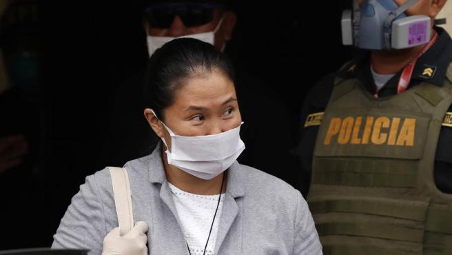 Keiko Fujimori, en libertad de la cárcel de Santa Mónica, en Lima (Perú).