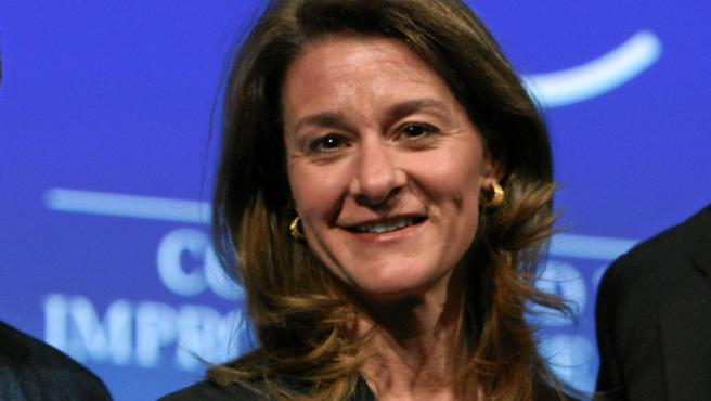 Melinda Gates, en Davos (Suiza).