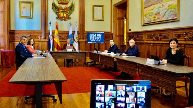 Pleno telemático del Ayuntamiento de La Orotava