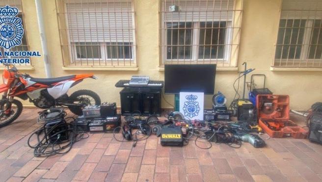 Efectos robados en Alcázar de San Juan