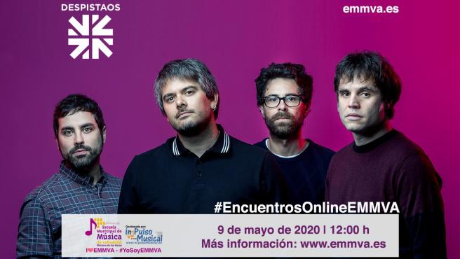 Imagen promocional del encuentro 'online' con el grupo Despistaos.
