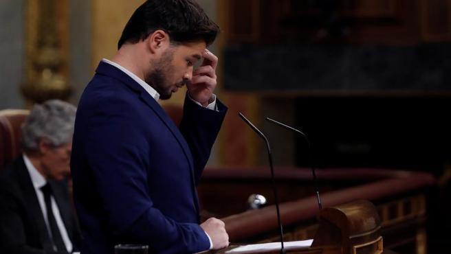 El diputado de ERC Gabriel Rufián en el pleno del Congreso.