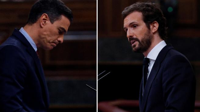 Sánchez y Casado, en el Congreso