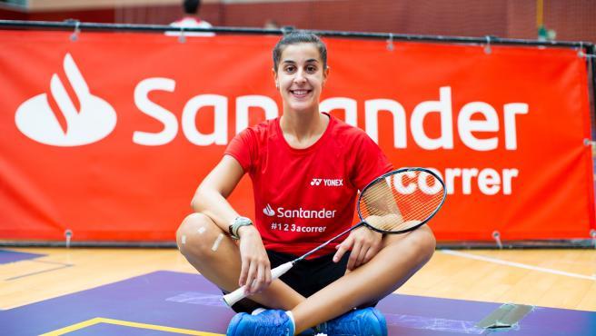 Carolina Marín, en un entrenamiento