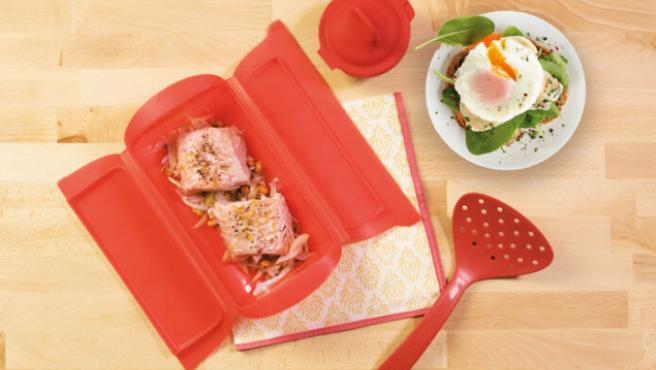 Los moldes de Lékué son aptos para microondas y horno.