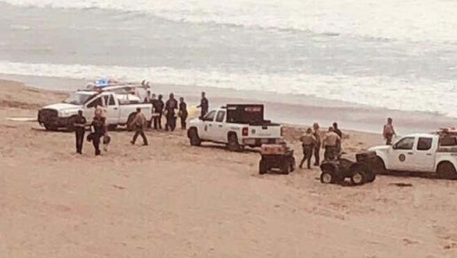 La playa de Santa Cruz, tras el incidente
