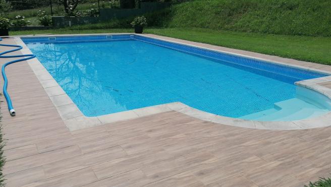 Casa con piscina en Asturias.