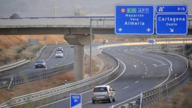 Imagen de la Autopista del Mediterráneo (A-7).