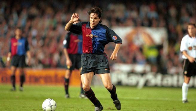 Litmanen, en su etapa como jugador del Barça.