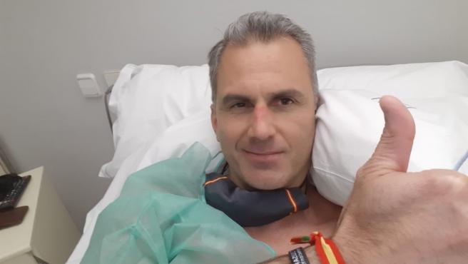 El portavoz de Vox en el Ayuntamiento de Madrid y secretario general de la formación, Javier Ortega Smith, ingresado en el hospital.