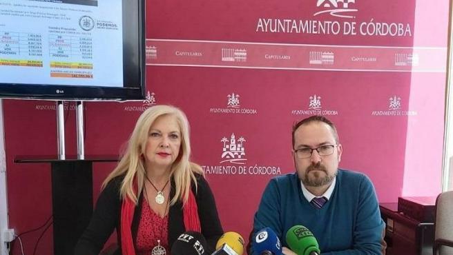 Cristina Pedrajas y Juan Alcántara, en una imagen de archivo.