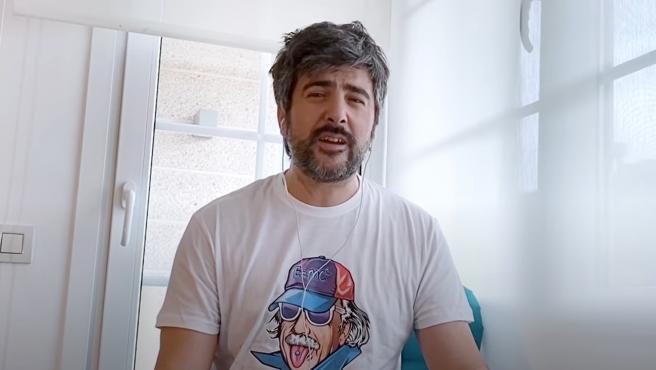 David Muñoz, durante la grabación de 'Camiseta de rokanrol'.