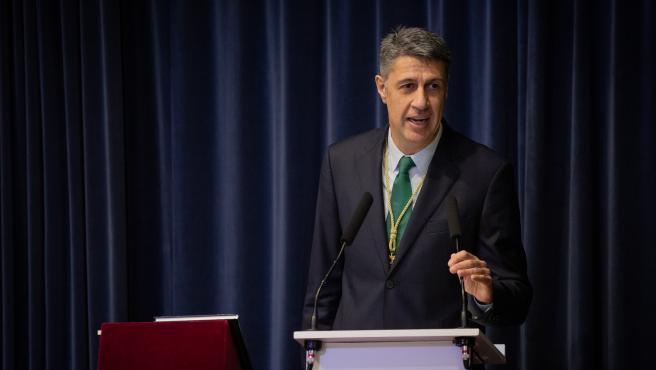 Xavier García Albiol durante su intervención tras ser proclamado alcalde de Badalona, este martes