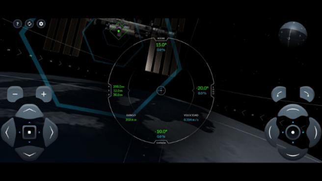 Imagen del simulador de la cápsula Dragon 2.