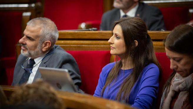 Lorena Roldán (Cs) durante la sesión de control del pleno del Parlament