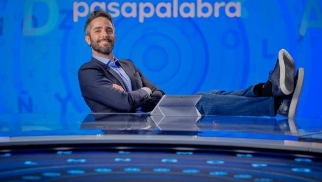 Roberto Leal, en el plató de 'Pasapalabra'.