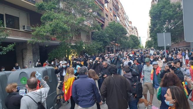 Decenas de personas se congregaron en Madrid en la zona de Núñez de Balboa el miércoles 13 de mayo Decenas de personas se congregaron en Madrid en la zona de Núñez de Balboa el miércoles 13 de mayo 14/5/2020