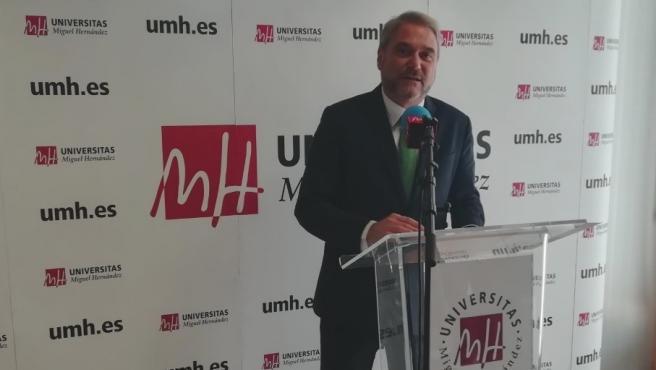 Juan José Ruiz, rector de la UMH, imagen de archivo.