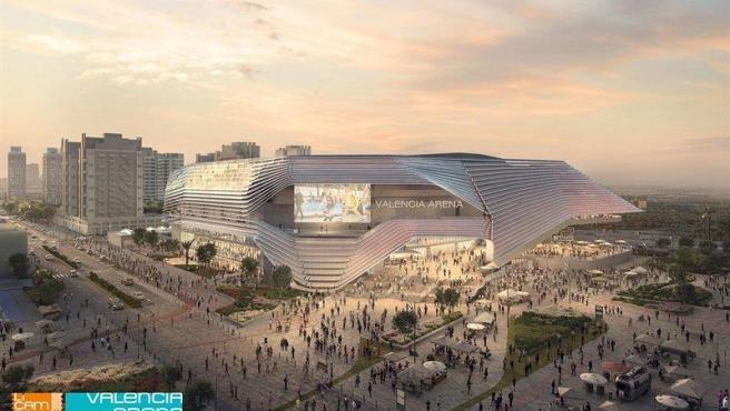 Recreación del futuro estadio Arena de València.