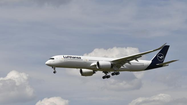 Imagen de archivo de un avión de Lufthansa.