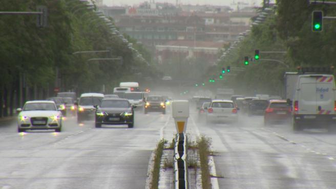 Vuelve el tráfico a Madrid debido a la lluvia