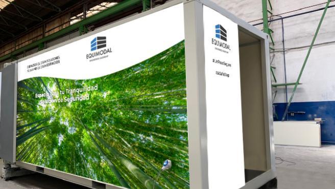 El túnel pretende garantizar la seguridad de las personas, así como la desinfección de los objetos que diariamente llegan a las empresas.