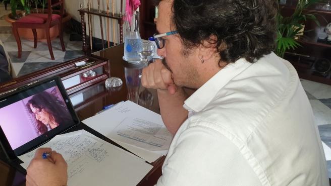 El alcalde de Cádiz, José María González, en una reunión telemática de la Comisión Permanente de la FAMP