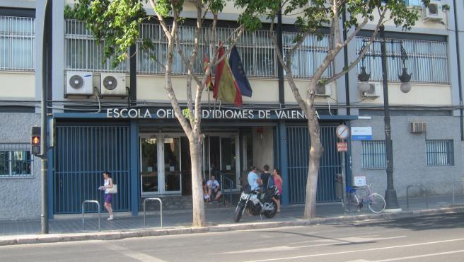 Entrada de l'Escola Oficial d'Idiomes de València EOI València