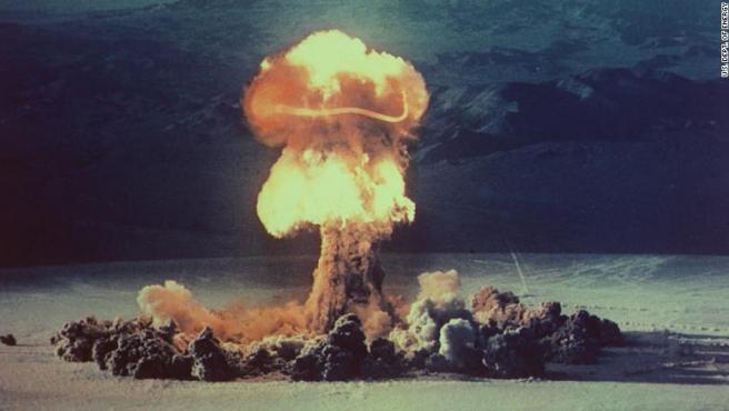 Prueba nuclear en la década de los 50.