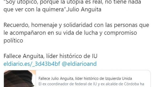 Chunta Aragonesista en su Twitter