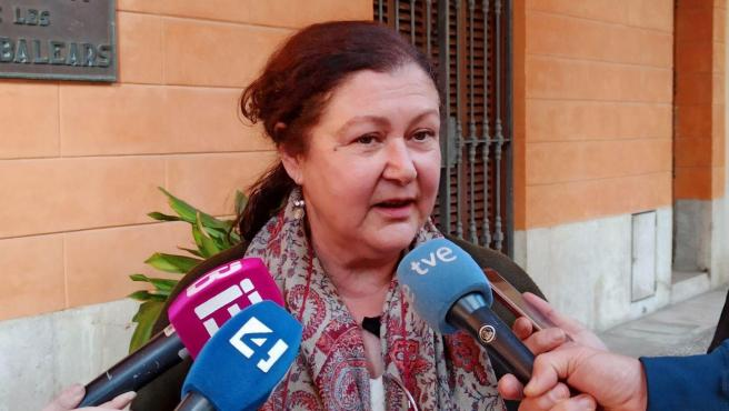 La secretaria de Podemos Baleares, Mae de Concha, en declaraciones a los medios