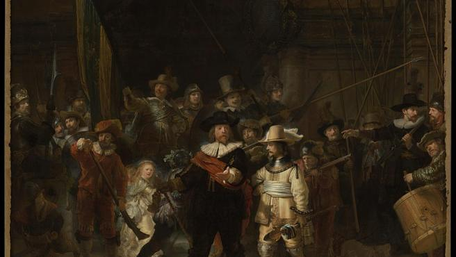 El cuadro 'La ronda nocturna', de Rembrandt.