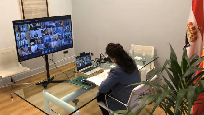 Décima videoconferencia de Pedro Sánchez con el resto de presidentes de comunidades y ciudades autónomas
