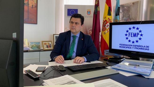 El alcalde de San Javier y presidente de la Comisión de Medio Ambiente de la Federación Española de Municipios y Provincias (FEMP), José Miguel Luengo