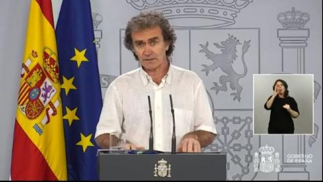 Fernando Simón, en rueda de prensa este domingo 17 de mayo.