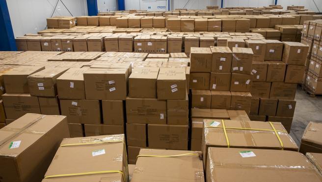 Material sanitario llegado a las Islas entre este viernes y sábado.